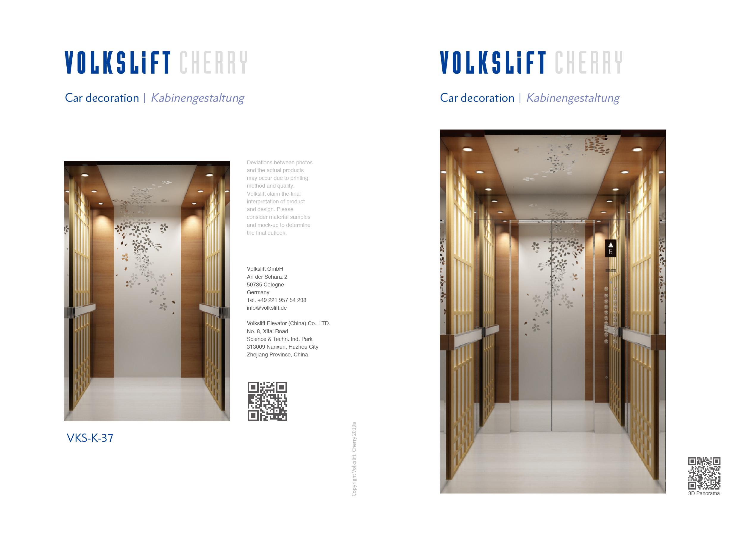 Cherry Elevator Design - Oryx Elevators