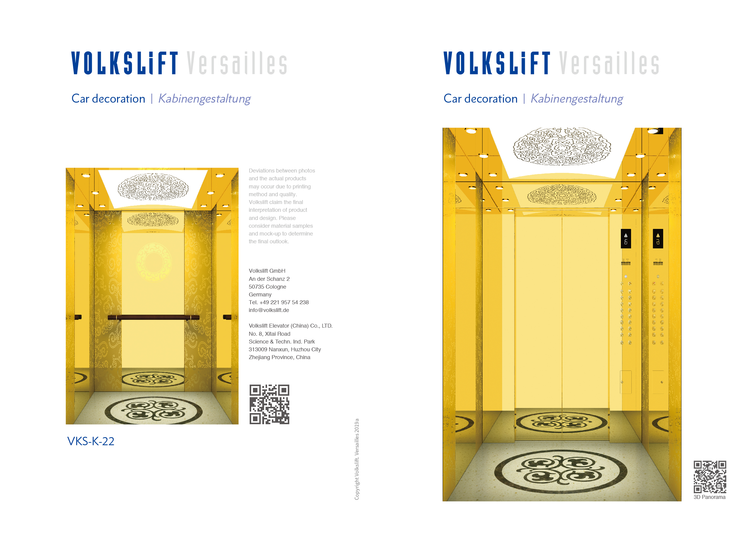 Versailles Elevator Design - Oryx Elevator